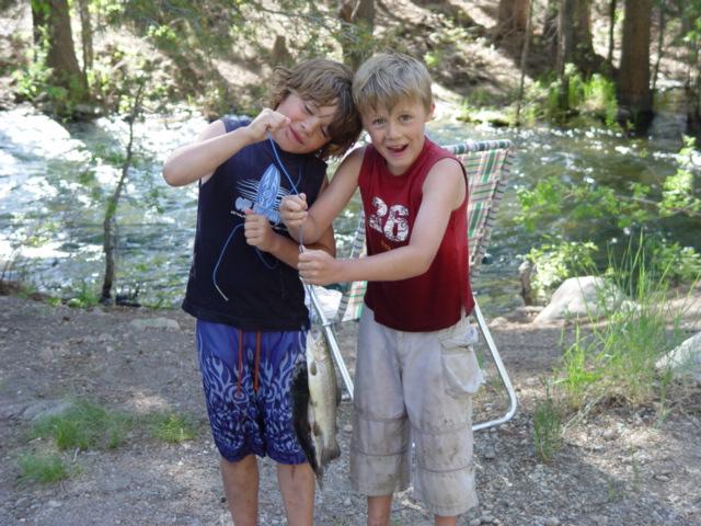 Kids on opening day of Trout season...Lake Tahoe