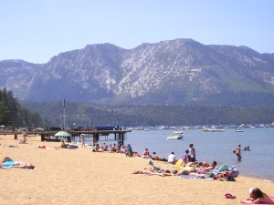 Lake Tahoe Beaches in Summer