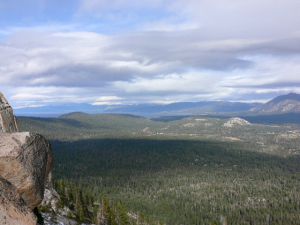 Lake Tahoe Basin view - Echo Lakes Hiking Trails