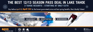 Lake Tahoe Heavenly Ski Passes